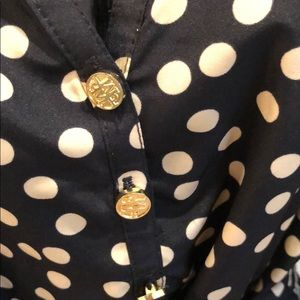 a746b7c271e0b Mud Pie Dresses | Black And Tan Polka Dot Dress | Poshmark